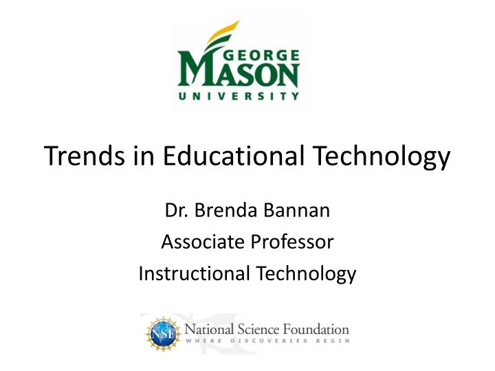 trends in educational technology n.
