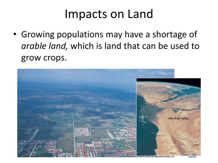 Impacts on Land
