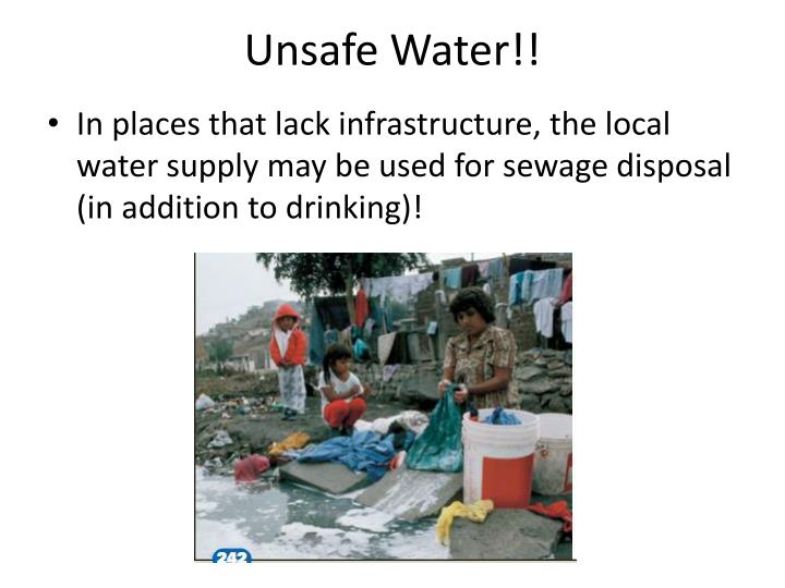 Unsafe Water!!