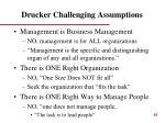 drucker challenging assumptions