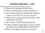 fourteen question cont4