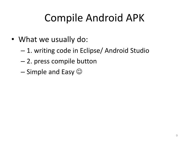 Compile Android APK