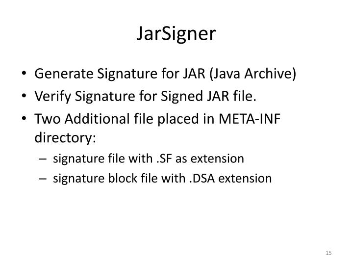 JarSigner