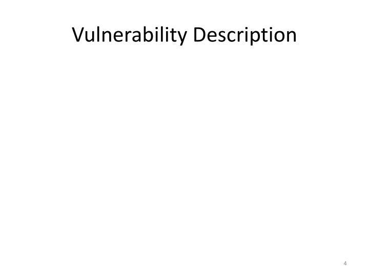 Vulnerability Description