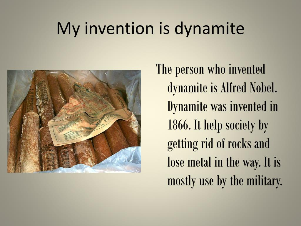 ppt my invention is dynamite powerpoint presentation id 2878347
