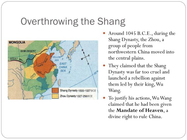 Overthrowing the shang