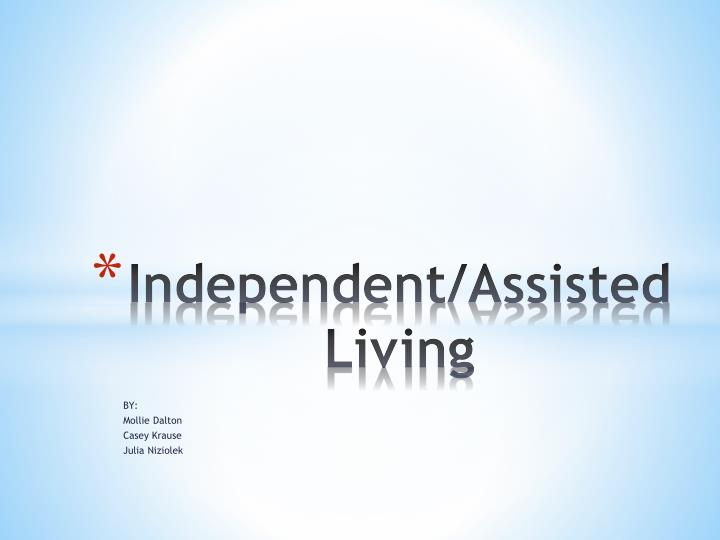 independent assisted living n.