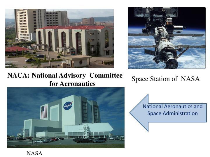 NACA: National Advisory  Committee       for Aeronautics