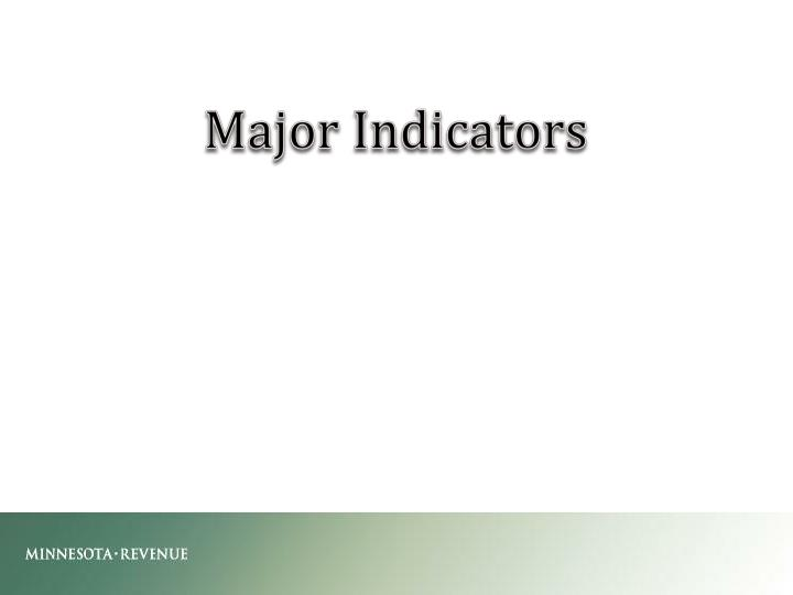 Major Indicators