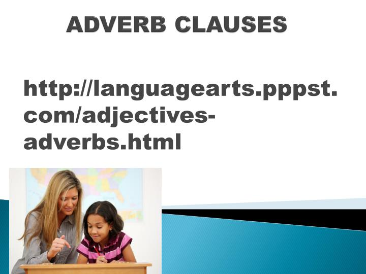adverb clauses n.