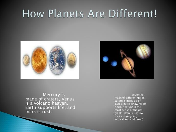 How Planets Are Different!
