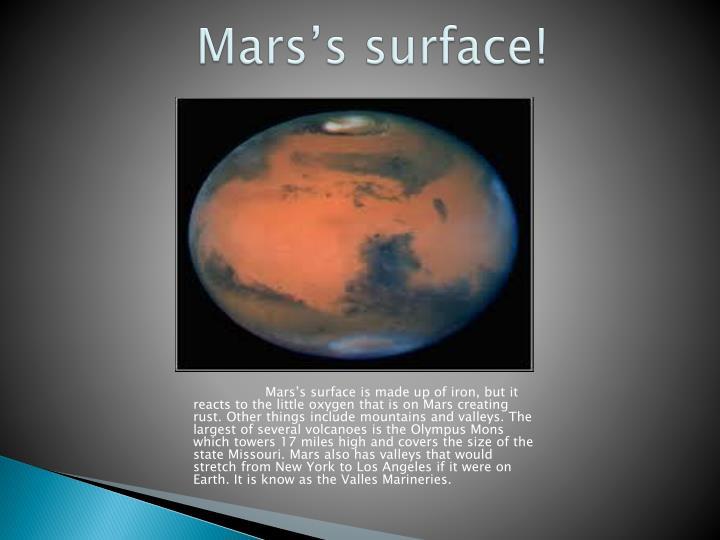 Mars's surface!