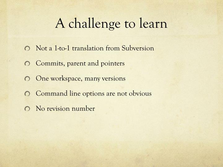A challenge to