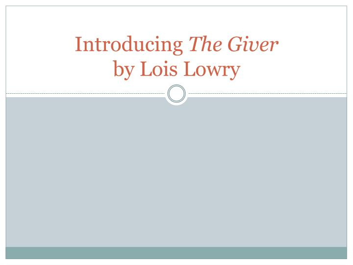 the giver research paper This sample paper on (essay sample on comparative of 1984 and the giver) was uploaded by one our contributors and does not necessarily reflect how our professionals write our papers.