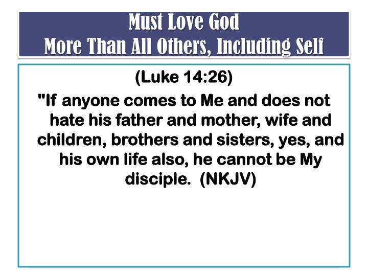 Must Love God
