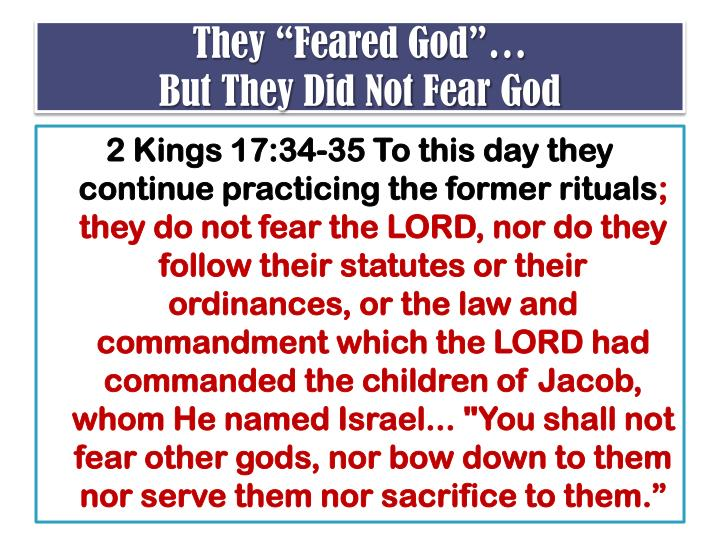 """They """"Feared God""""…"""