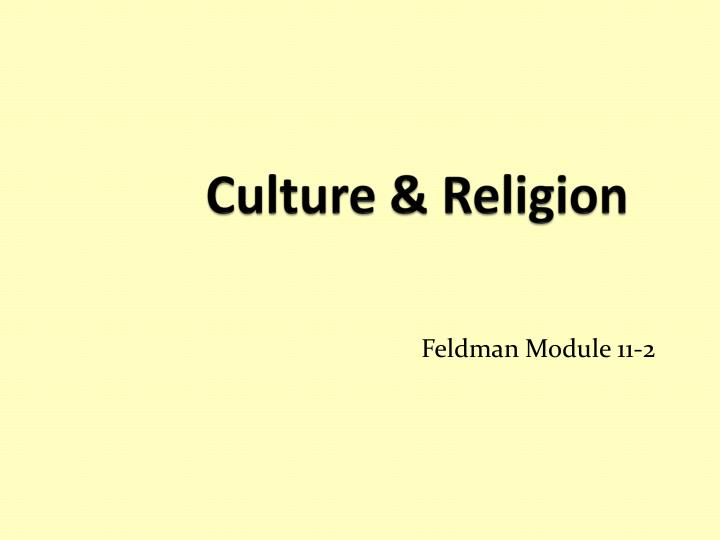 culture religion n.