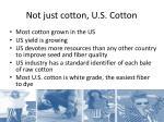 not just cotton u s cotton