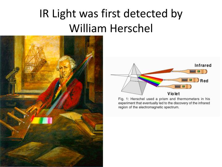 IR Light was first detected by