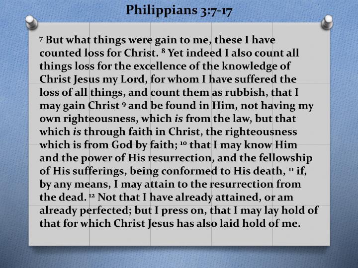 Philippians 3:7-17