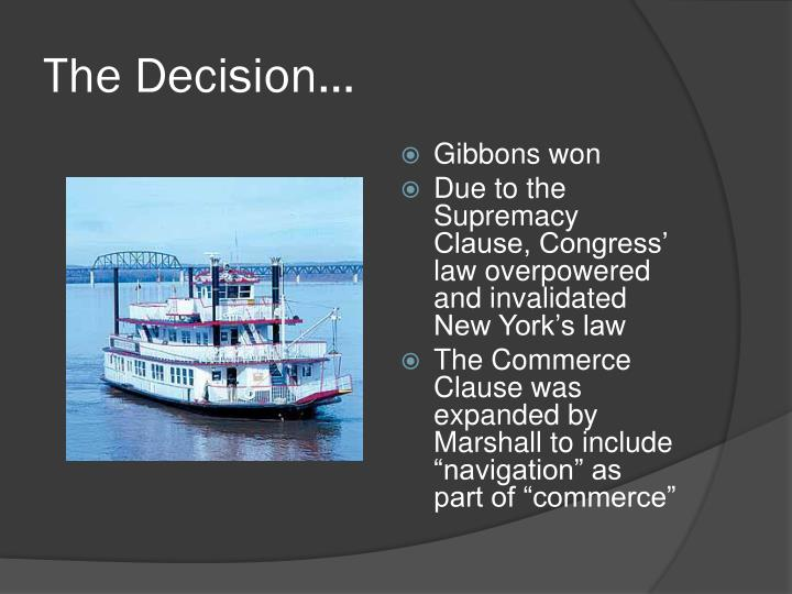 The Decision…