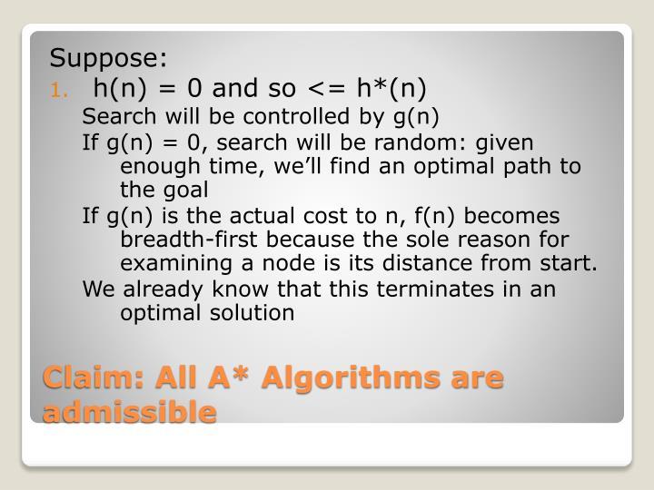Suppose: