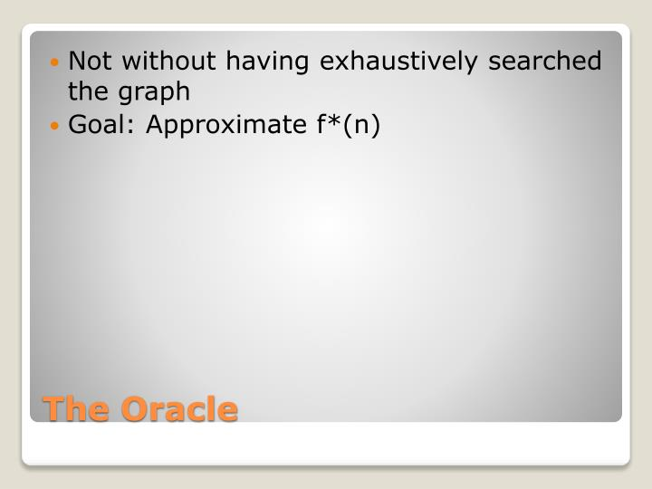 Not without having exhaustively searched the graph