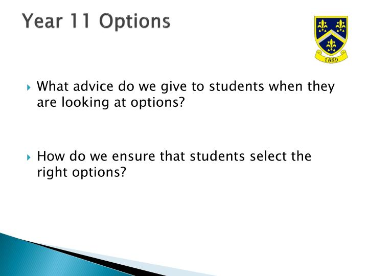 Year 11 Options