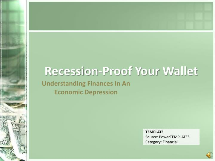 recession proof your wallet