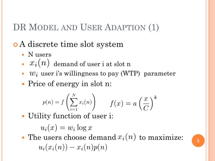 DR Model and User Adaption (1)