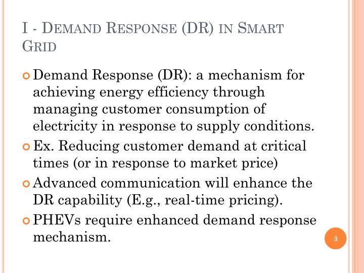 I demand response dr in smart grid