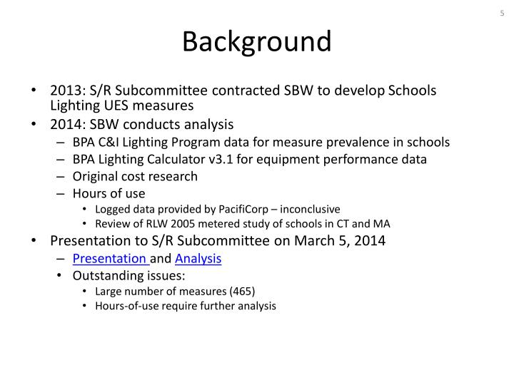 2013: S/R Subcommittee