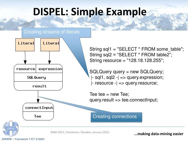 DISPEL: Simple Example