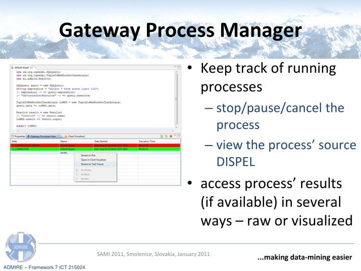 Gateway Process Manager