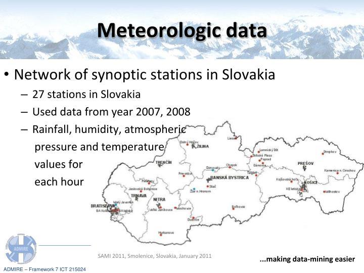 Meteorologic data