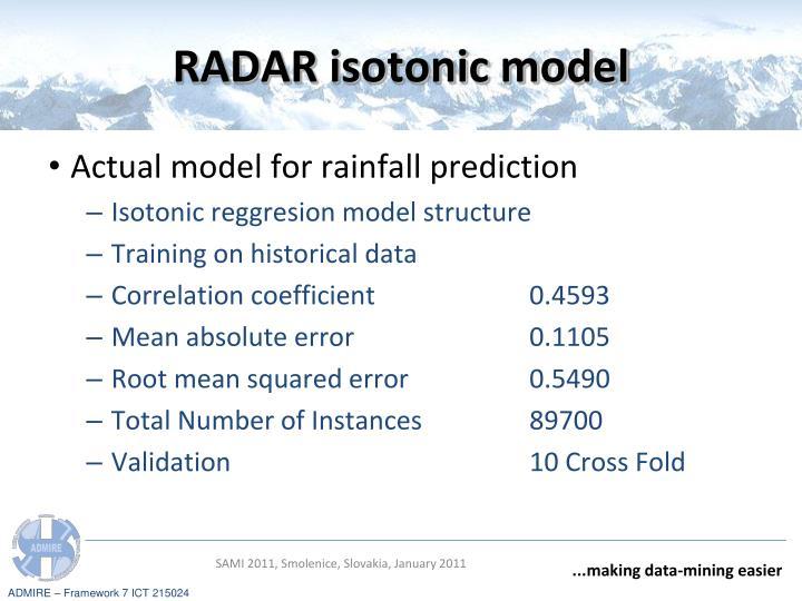 RADAR isotonic model