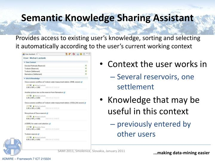 Semantic Knowledge Sharing Assistant