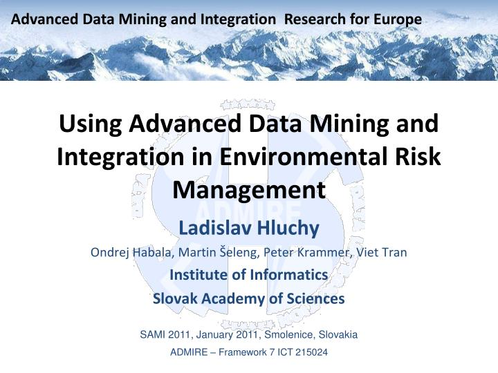 Using advanced data mining and integration in environmental risk management