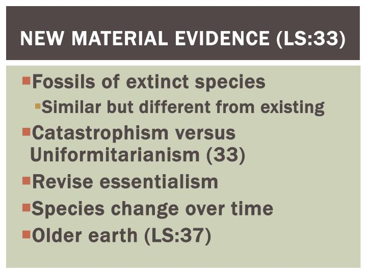 New material evidence ls 33