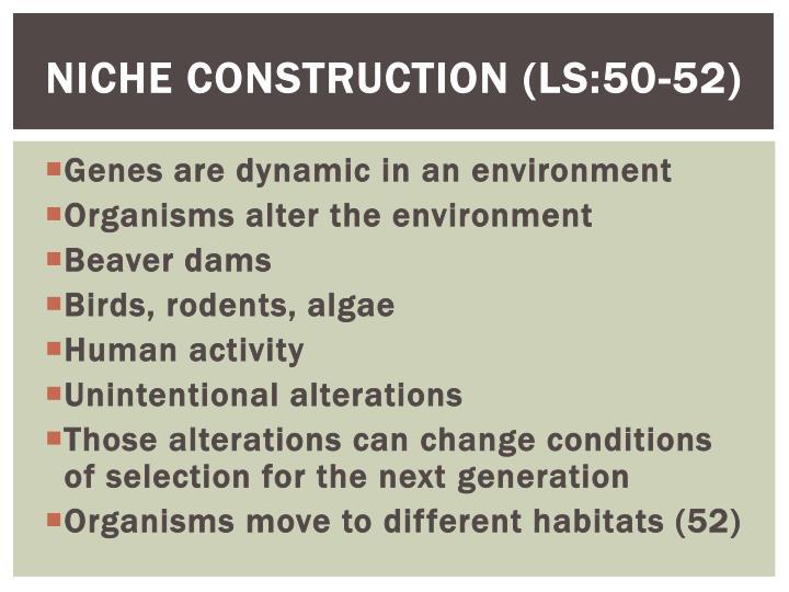 Niche Construction (LS:50-52)