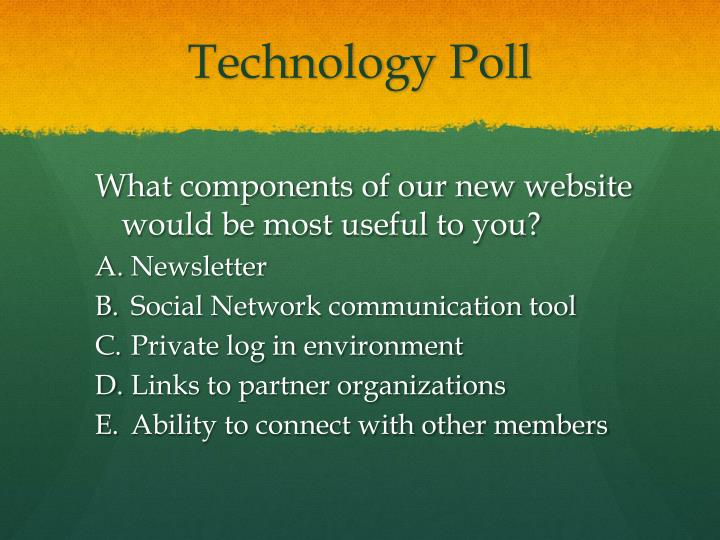 Technology Poll