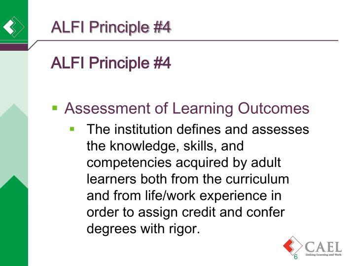 ALFI Principle #4
