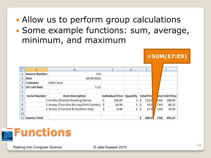 Allow us to perform group calculations