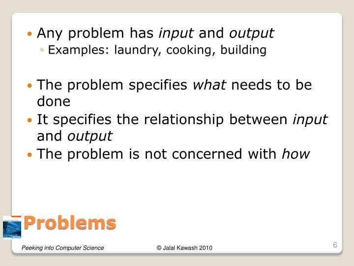 Any problem has