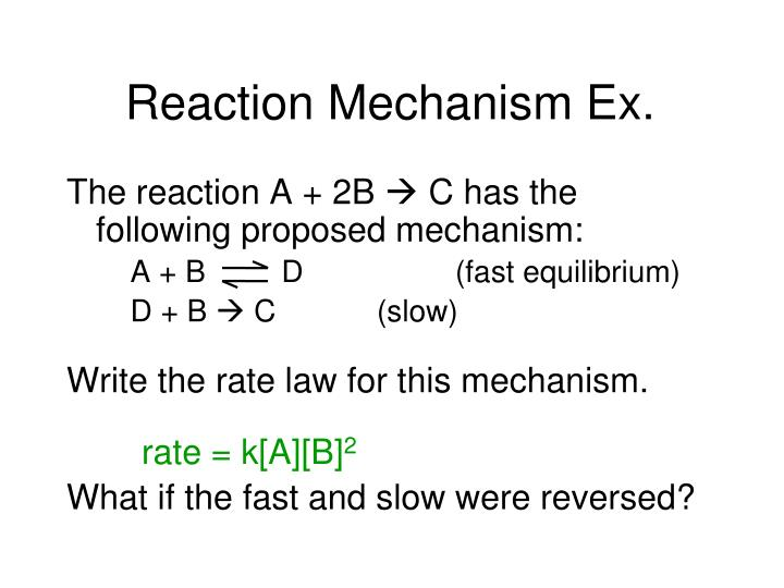 Reaction Mechanism Ex.