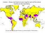 culture draw a red heart on your map for each of the culture hearths on the map below