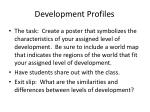 development profiles