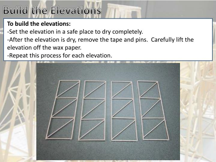 Build the Elevations