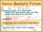 genre realistic fiction