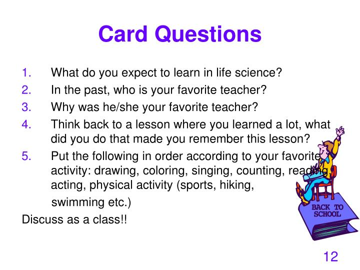 Card Questions